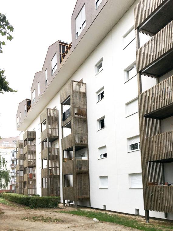Photo des balcons de Poissy